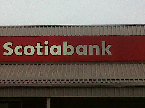 Awning cleaning part way through this project for Scotiabank.