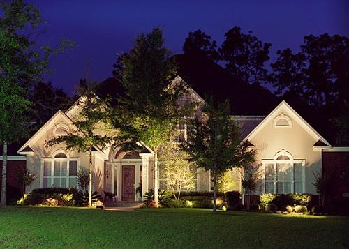 landscape lighting house